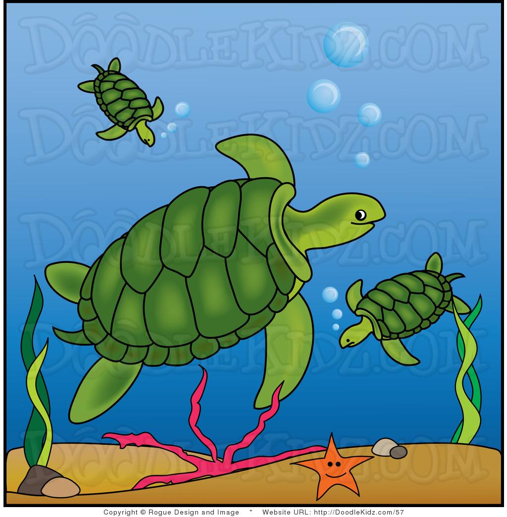 Sea turtle swimming turtle clipart.