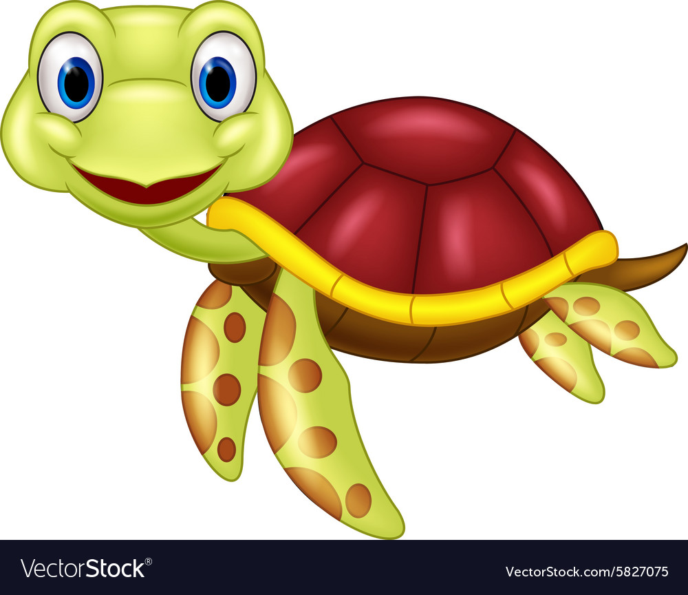 Cartoon baby cute turtle.
