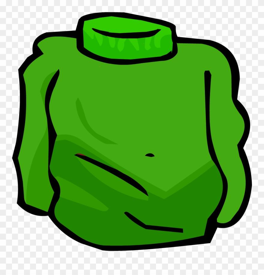 Green Turtleneck Clipart (#2876509).