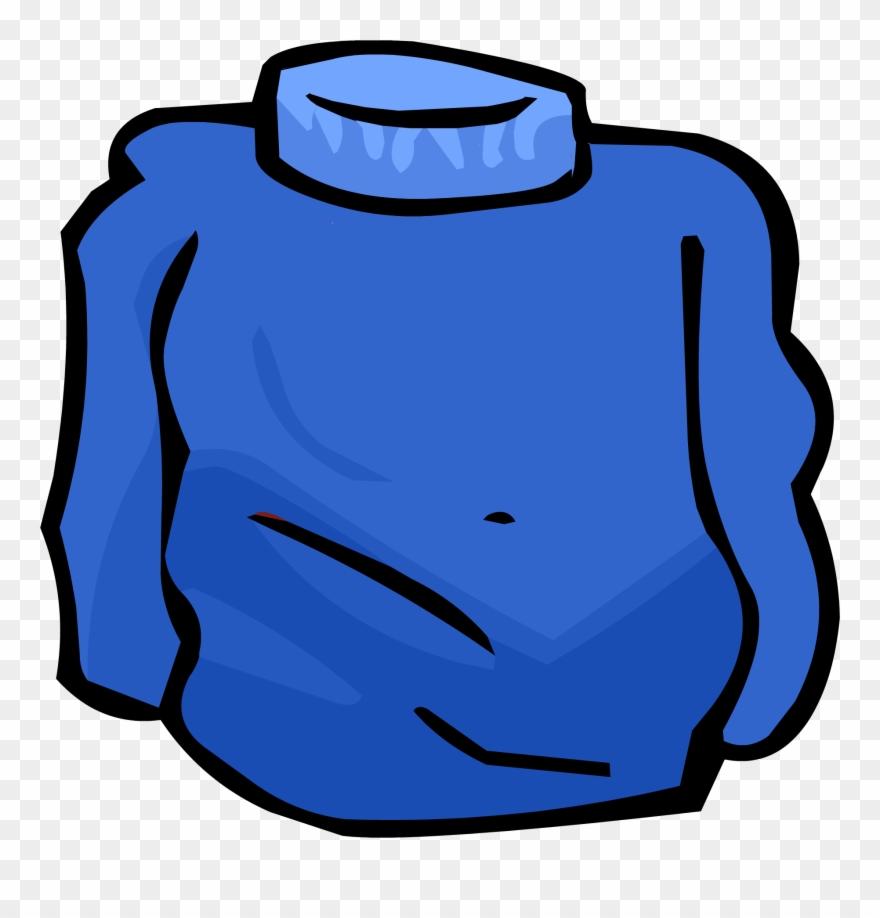 Blue Turtleneck Clipart (#2876593).