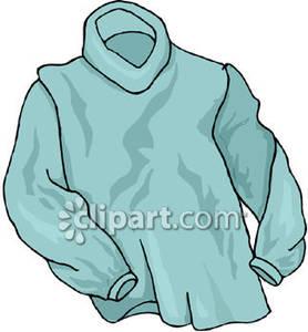 Blue Turtleneck Sweater.