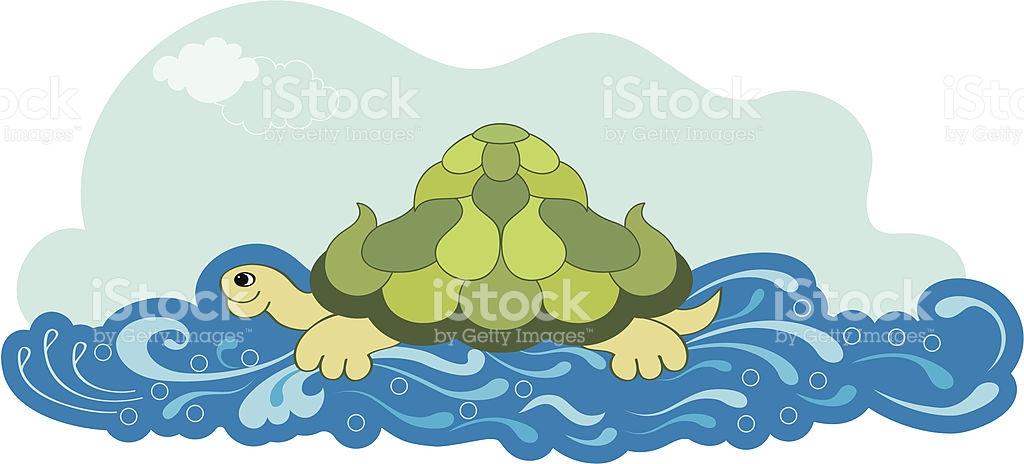 Turtle Swiming stock vector art 96686236.