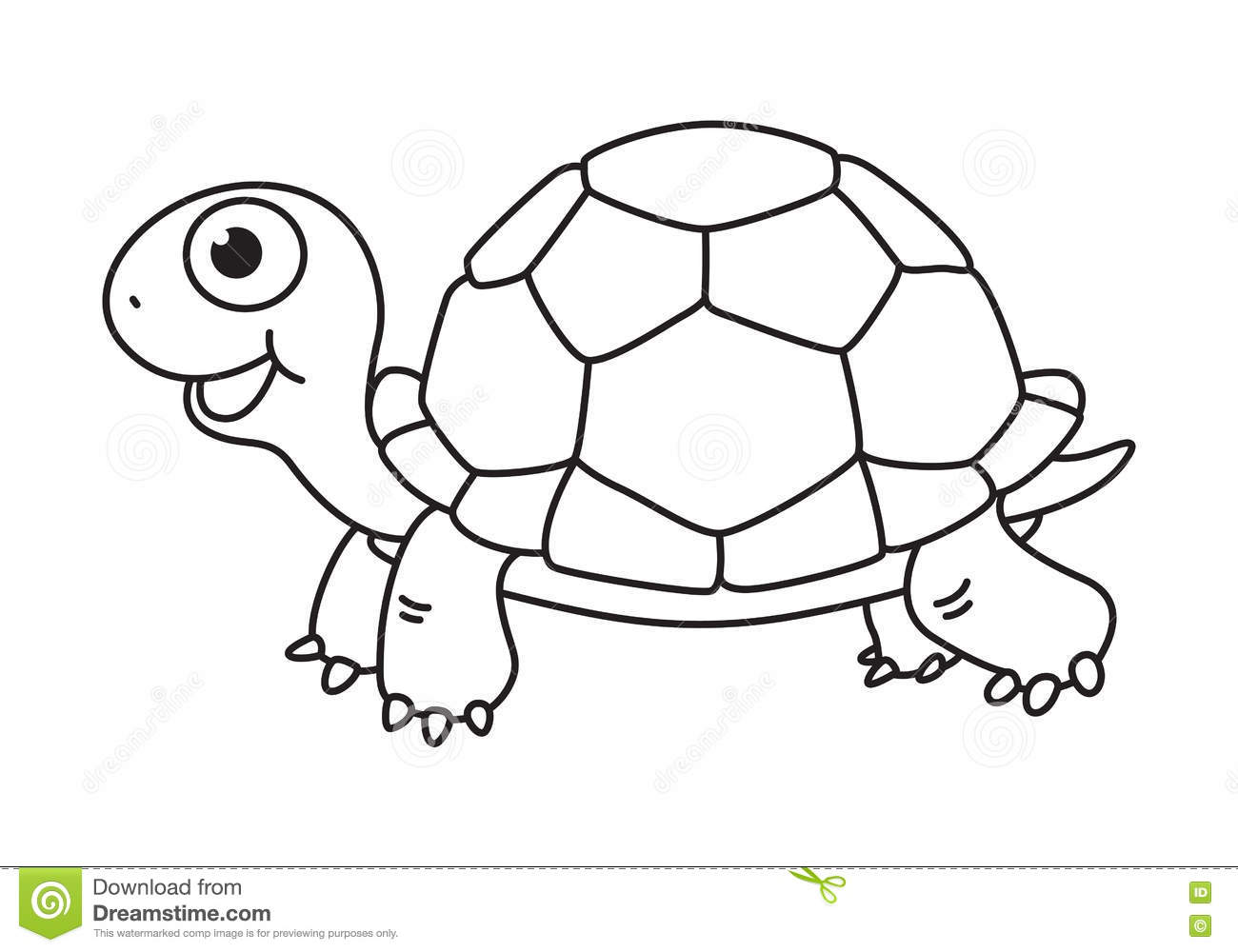 Cartoon Turtle Clipart Black And White.