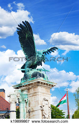 Picture of Turul Statue on Habsburg Gates in Budapest k19899867.