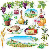 Tuscan Clipart and Illustration. 142 tuscan clip art vector EPS.
