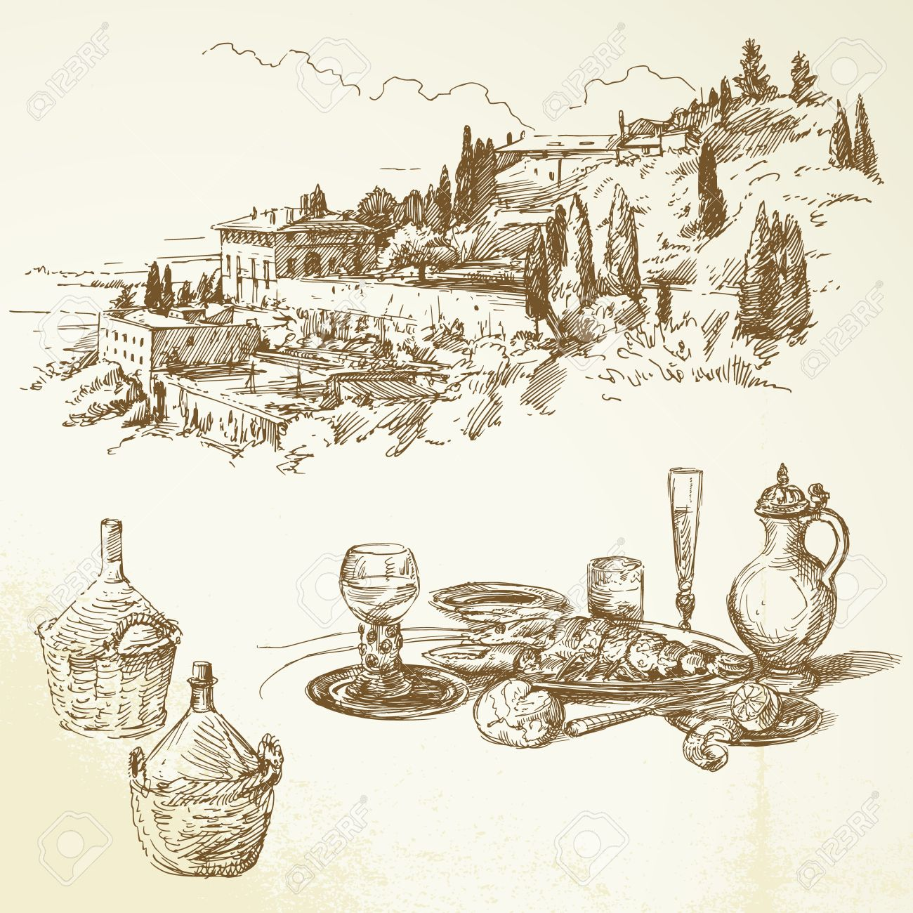Tuscan clipart #16