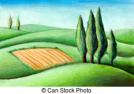 Tuscan hills Illustrations and Clipart. 72 Tuscan hills royalty.