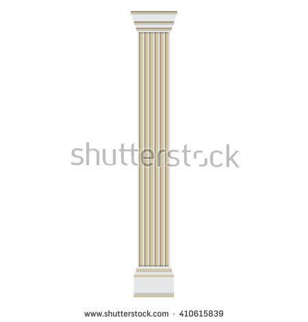 Column Isolated Stock Photos, Royalty.