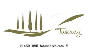 Tuscany Clip Art and Stock Illustrations. 526 tuscany EPS.