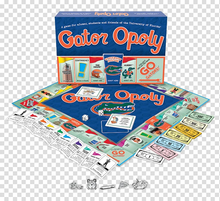 University of Florida Late for the Sky Monopoly Board game.