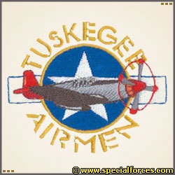 Embroidered Tuskegee Airmen.
