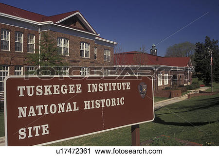 Stock Photography of Tuskegee, AL, Alabama, Tuskegee Institute.