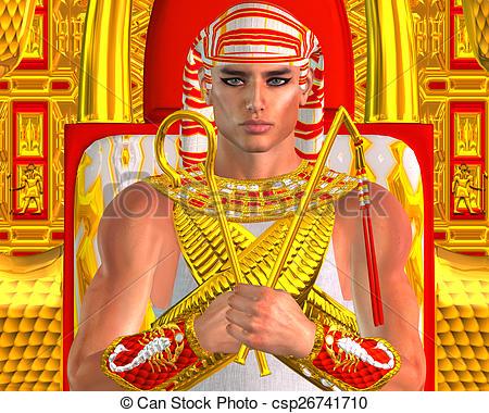 Clipart of Egyptian Pharaoh Ramses Fantasy.
