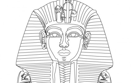 how to draw an egyptian mask
