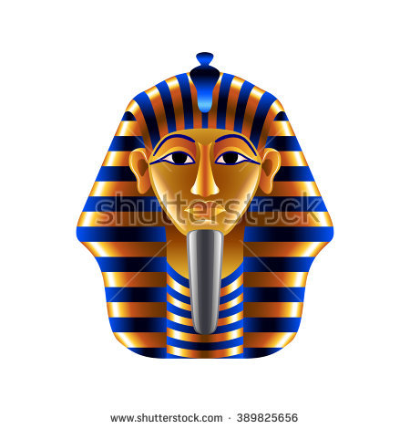 Death Mask Of Tutankhamun Stock Vectors & Vector Clip Art.