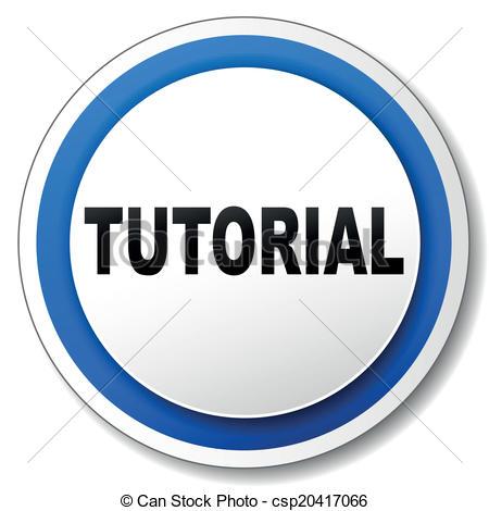 Clip Art Vector of Vector tutorial icon.