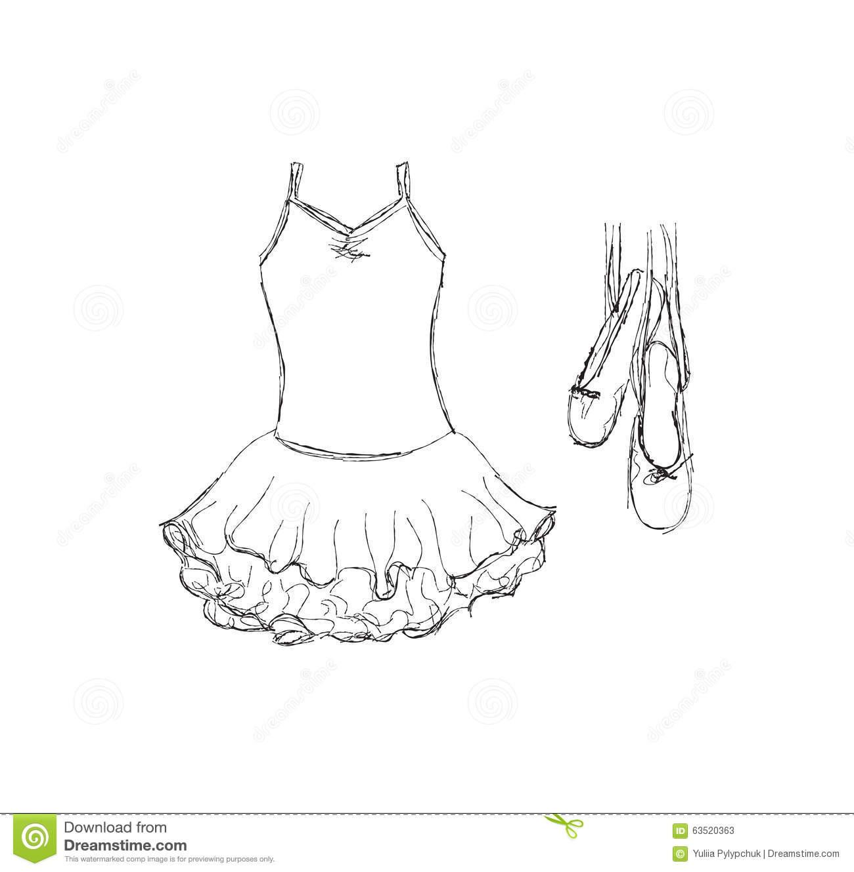Ballerina Skirt Clipart.