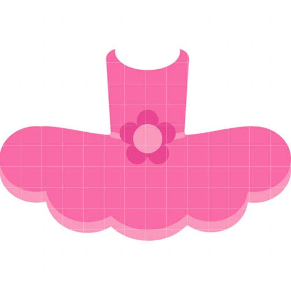 Pink Tutu Clip Art free image.