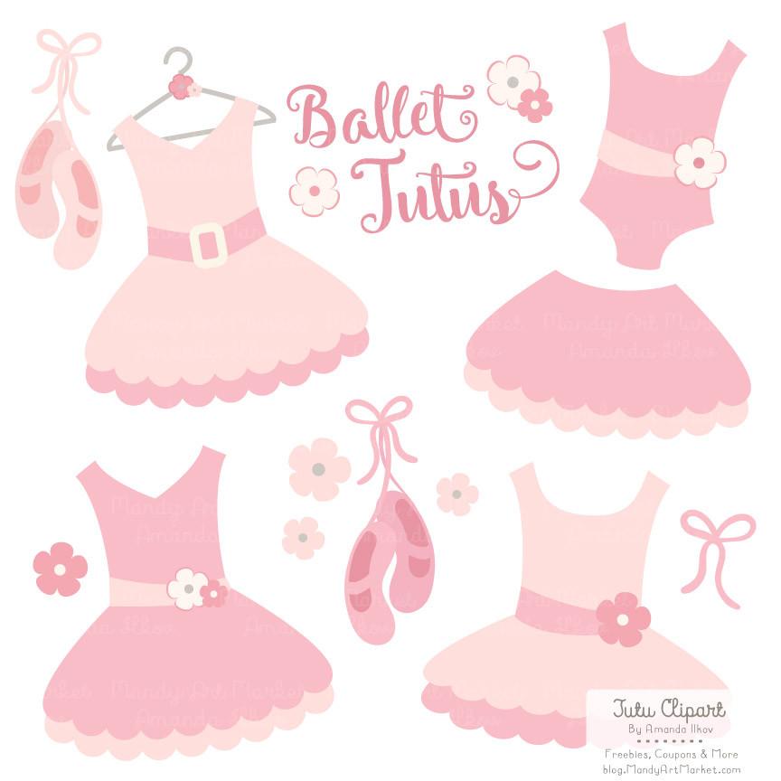 Adorable Soft Pink Ballet Tutu Clip Art.