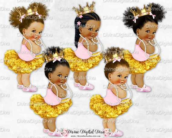 Ballerina Tutu Pink Gold Rhinestone Shoes Gold Crown Pearls.