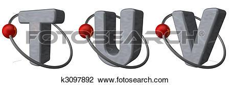 Clip Art of letters tuv k3097892.