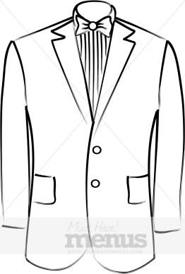 White Tuxedo Clipart.