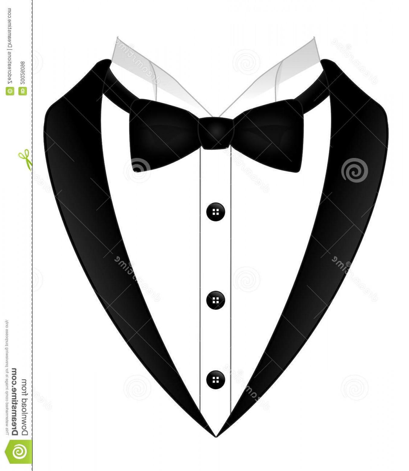 Top Tuxedo Bow Tie Clipart Graphic.