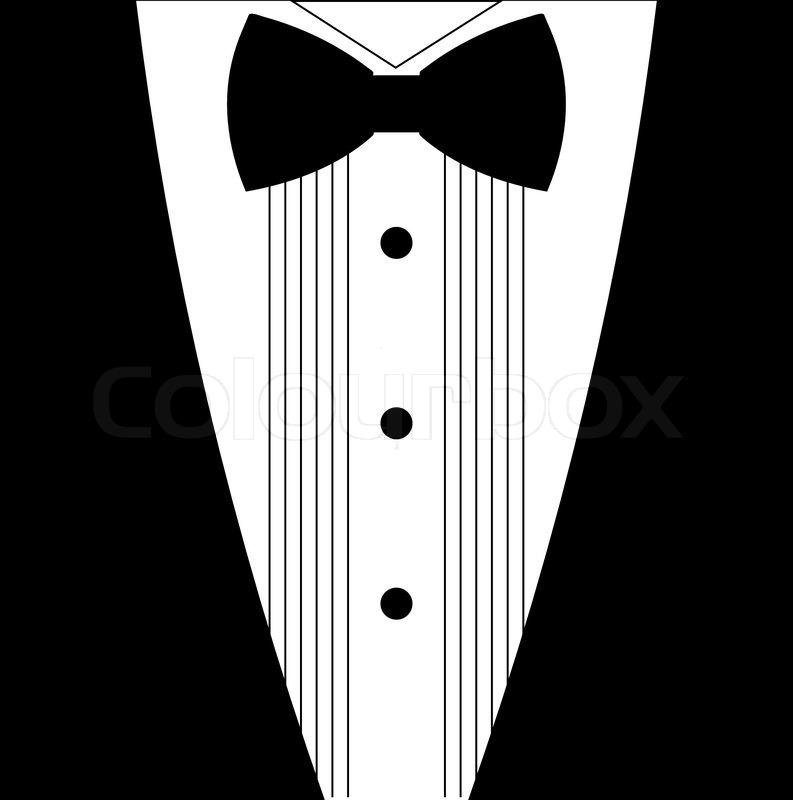tuxedo bow tie clipart