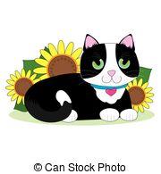 Tuxedo cat Clip Art Vector Graphics. 43 Tuxedo cat EPS clipart.