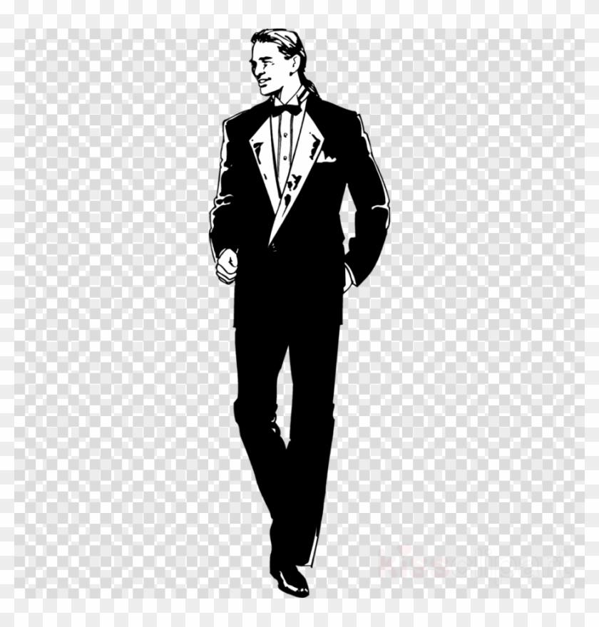 Download Guy In A Tux Clip Art Clipart Tuxedo Clip.