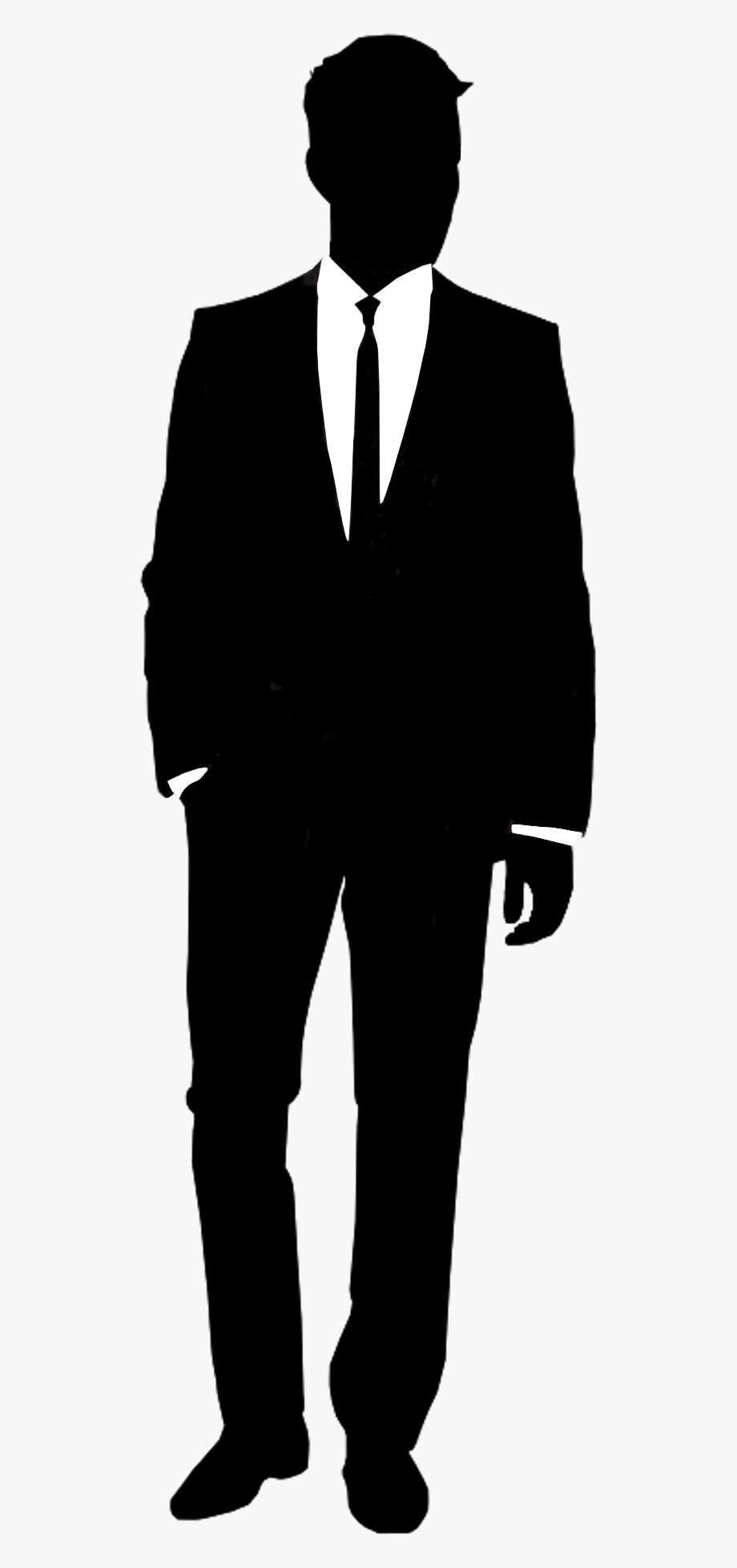 Suit Silhouette Shirt Informal Attire.