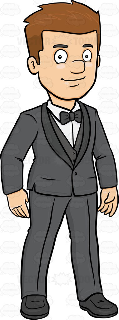 Tuxedo clipart formal person.