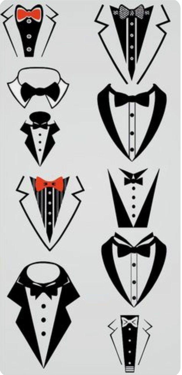CLIP ART GALORE ~ Tuxedo designs.