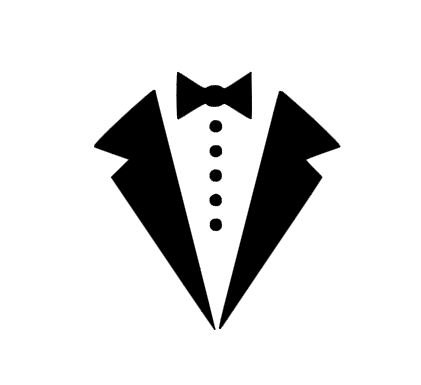 Tuxedo Bow Tie instant download for cutting machines.