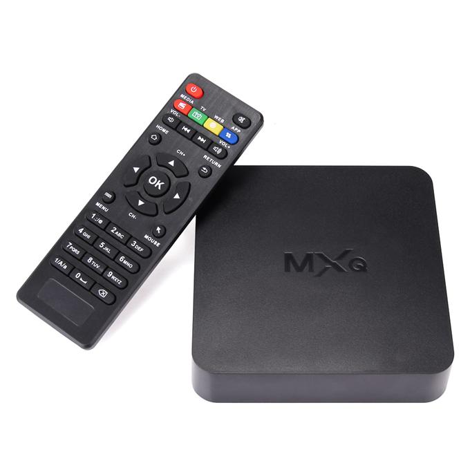 MXQ Amlogic S805 Smart TV Box Android 4.4.2 1GB RAM 8G ROM WIFI LAN HDMI  1080P H.265 Hardware Decoding Miracast DLNA.