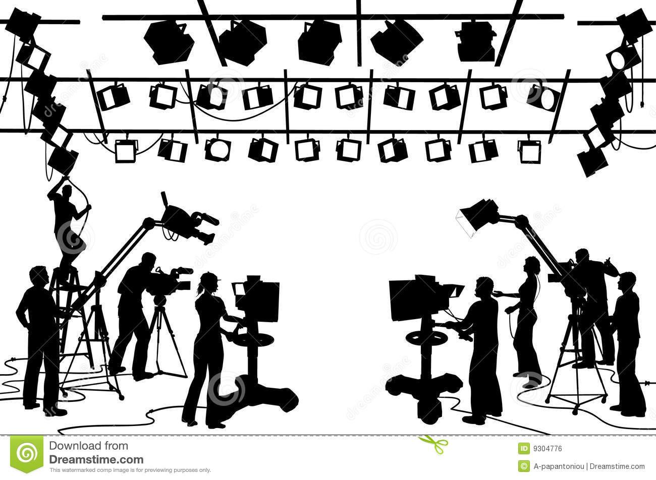TV Channel Studio Crew Royalty Free Stock Image.