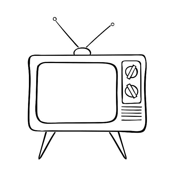 Tv clipart black and white 3 » Clipart Station.