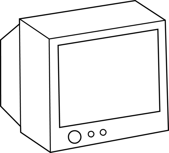 Tv Clipart Black And White.