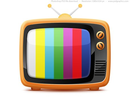 Free Retro TV icon (PSD)s Clipart and Vector Graphics.