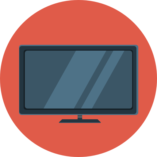 Flat TV Icon.