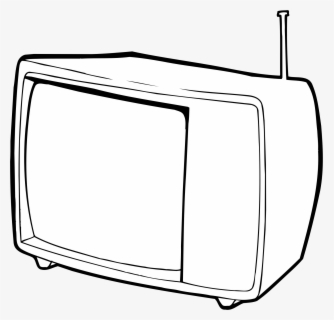 Free Tv Black And White Clip Art with No Background.