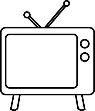 Free Tv Clipart Black And White, Download Free Clip Art.