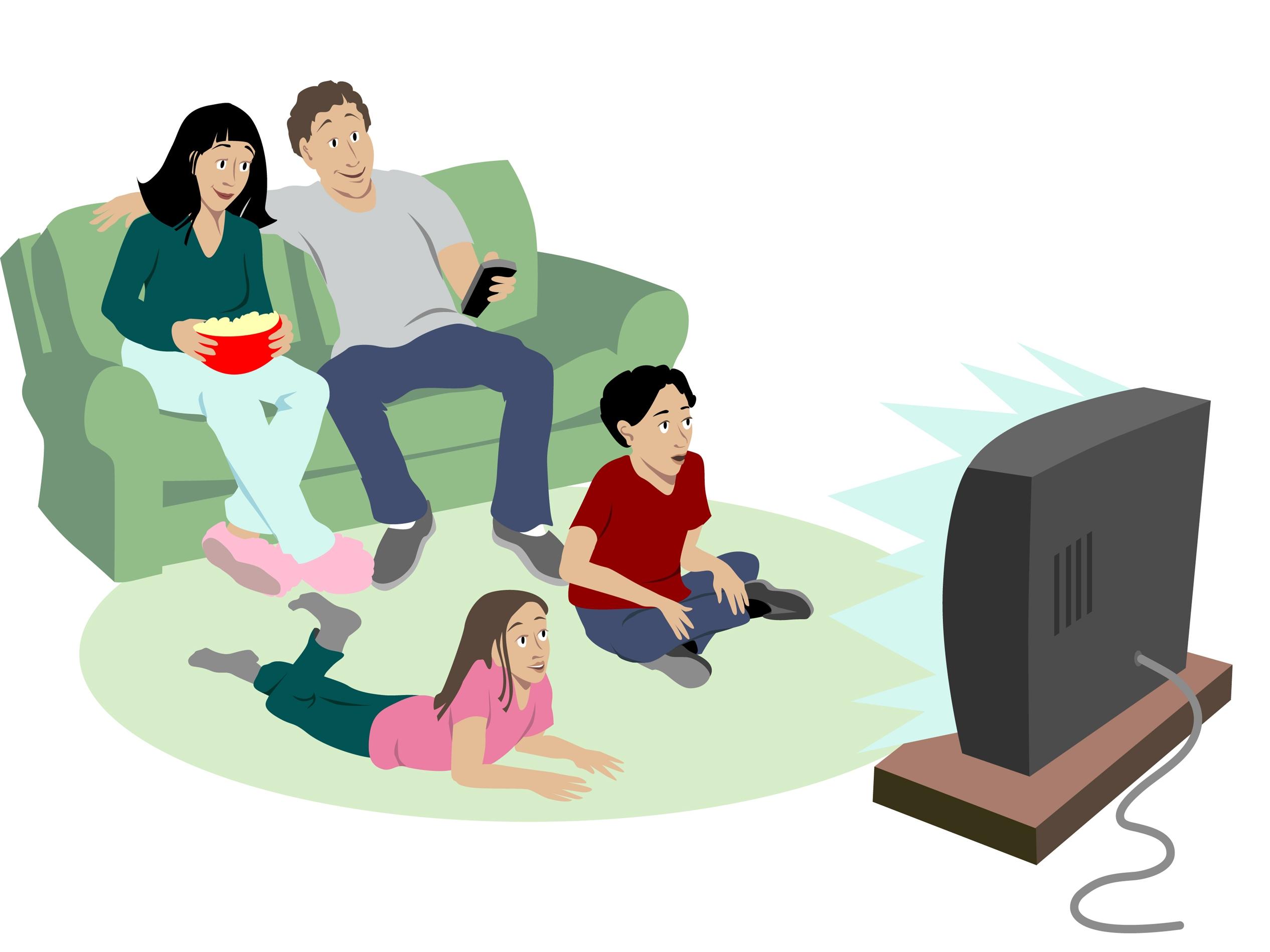 Watch TV Clip Art.