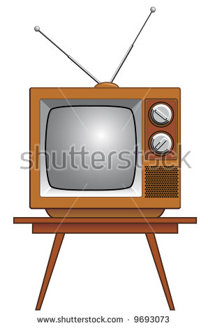 Tv On Table Stock Vectors, Images & Vector Art.