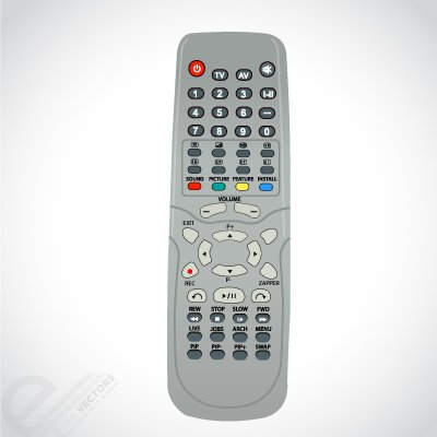 Vector TV remote controls Clipart Picture Free Download.