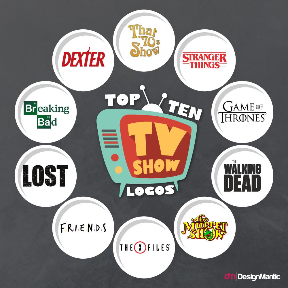 10 Iconic TV Show Logos.