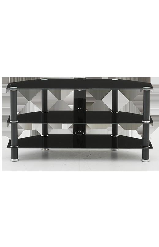 Black 3 Shelves TV Stand.