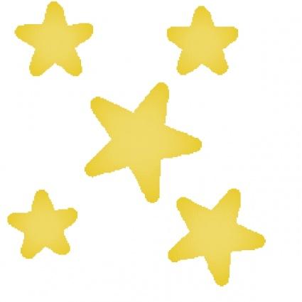 4 Stars Clipart.