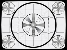 Indian head test pattern labeled.