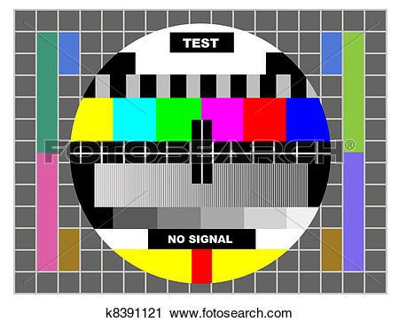 Clipart of tv color test pattern k8391121.